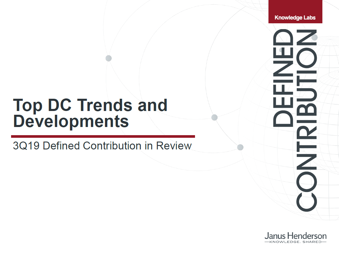 3Q19 Top DC Trends and Developments