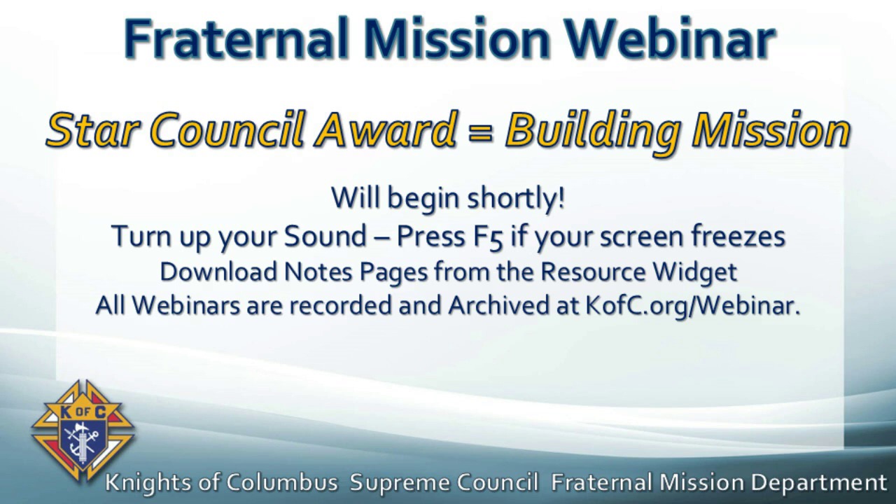 Star Council Award = Building Mission