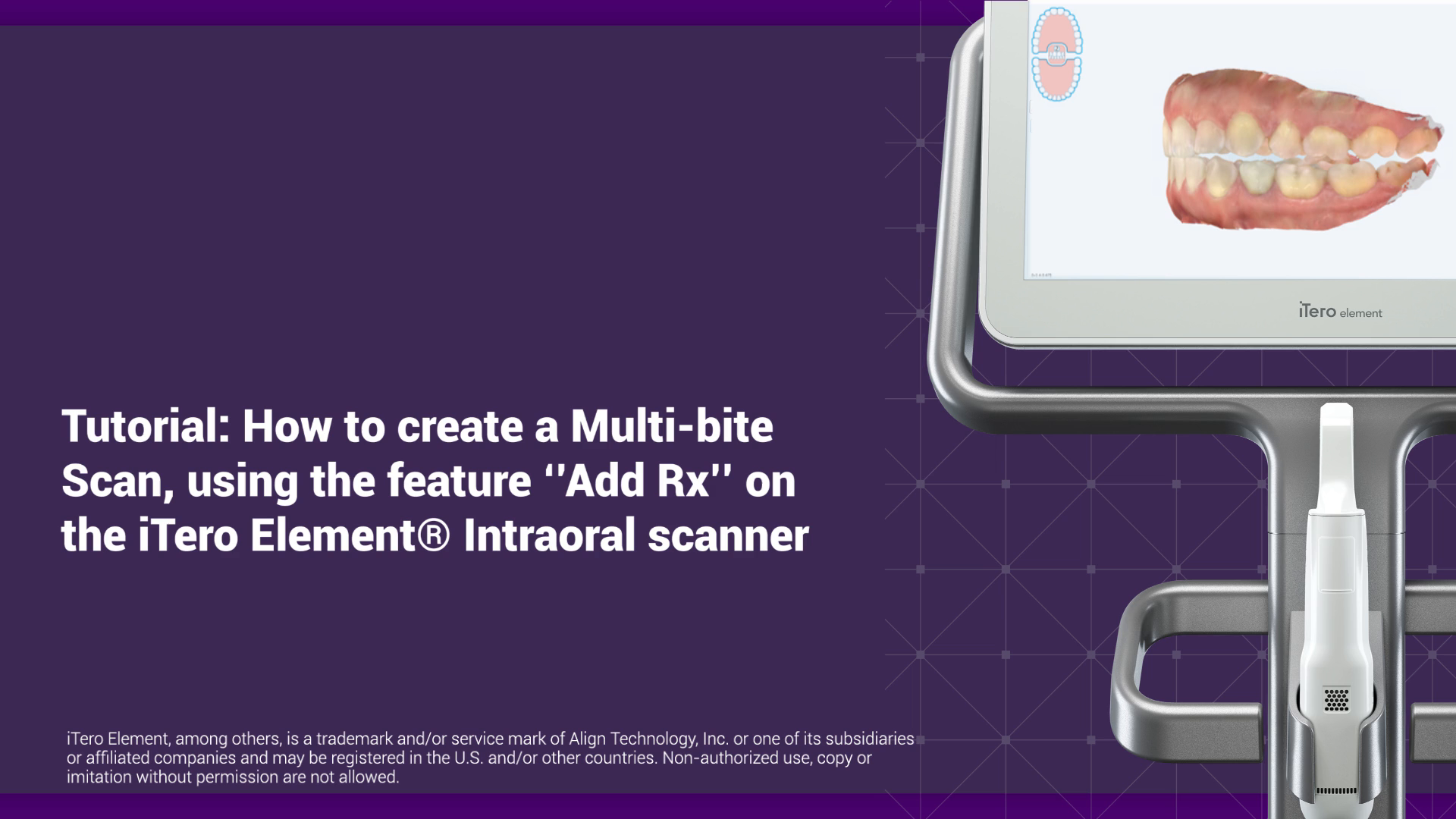 """2 minutes: How to create a Multi-Bite Scan, using """"Add Rx"""""""