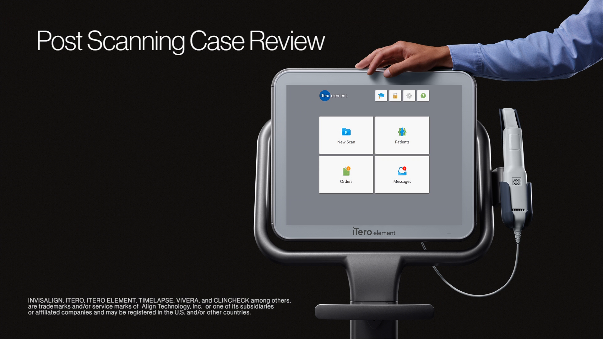 1:30 minutes:  Post-scanning case review