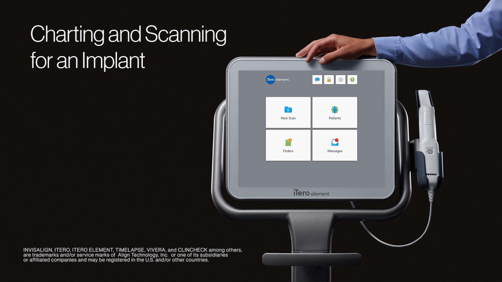 4 minutes:  Charting and Scanning for an Implant