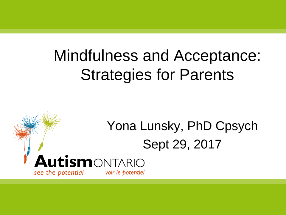Mindfulness and Acceptance Strategies - Slides