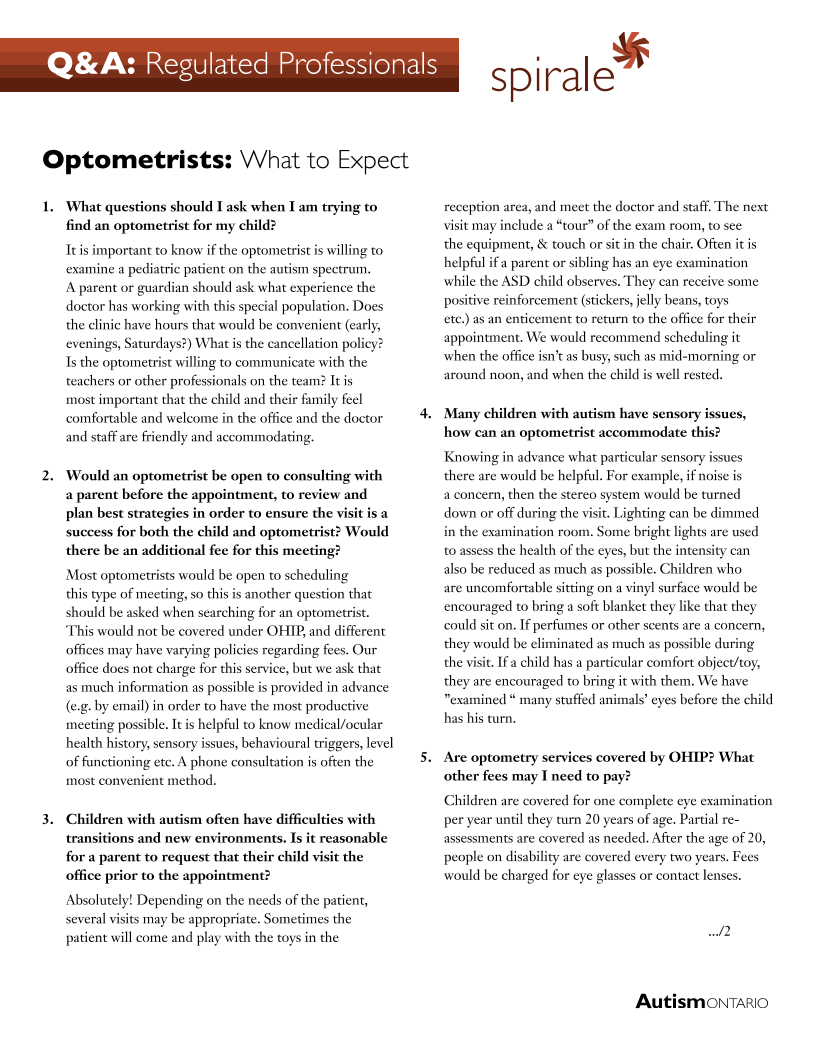 Optometrists - What to Expect