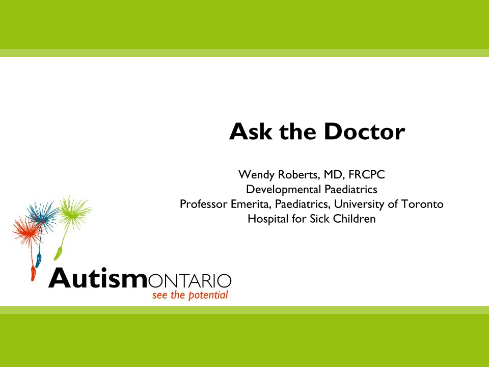 Ask the Doctor - Slides