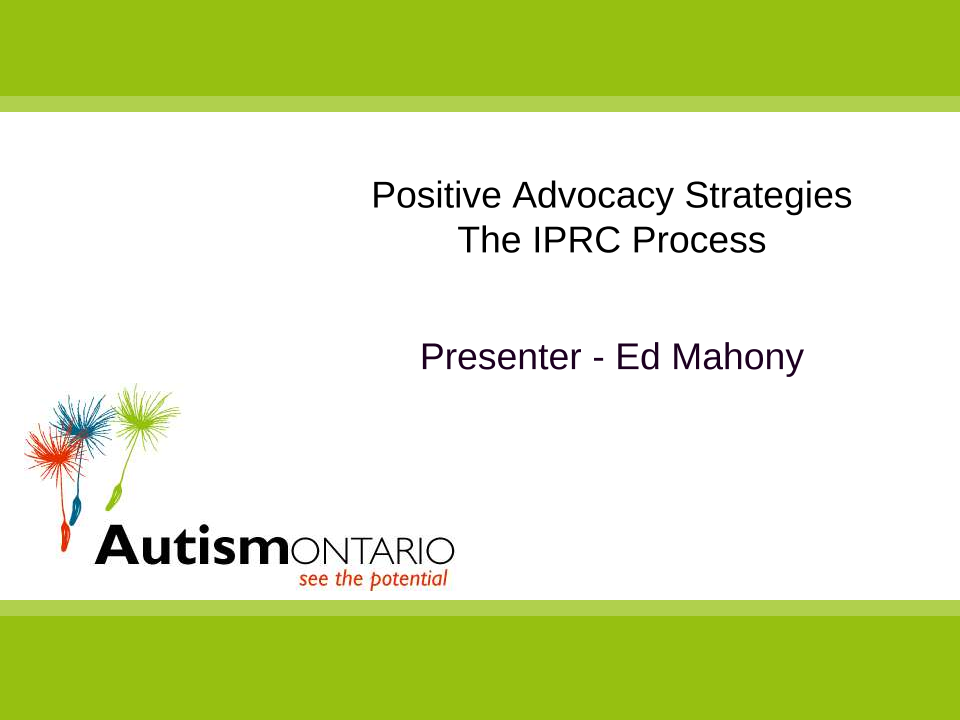 Positive Advocacy Strategies - Slides
