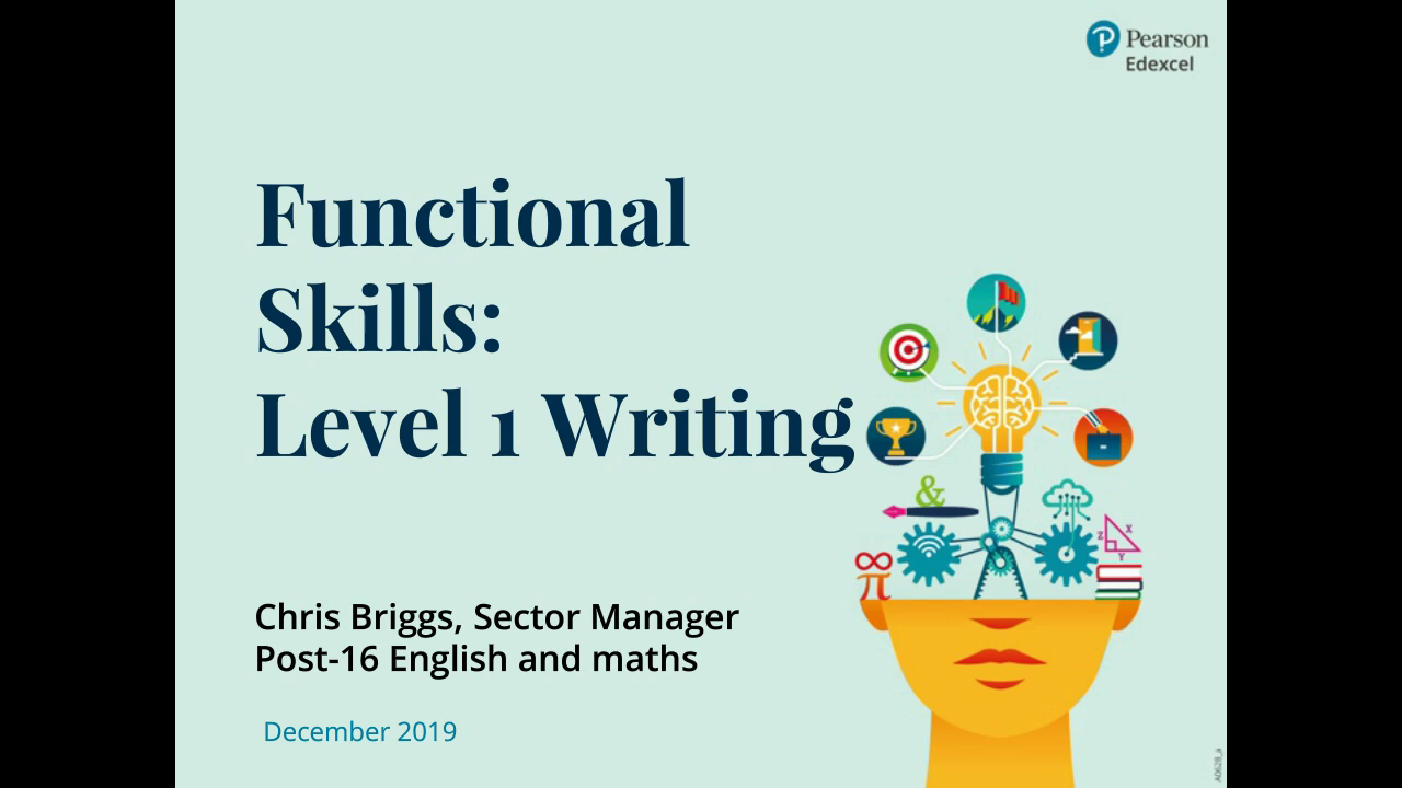 Functional Skills: Level 1 writing