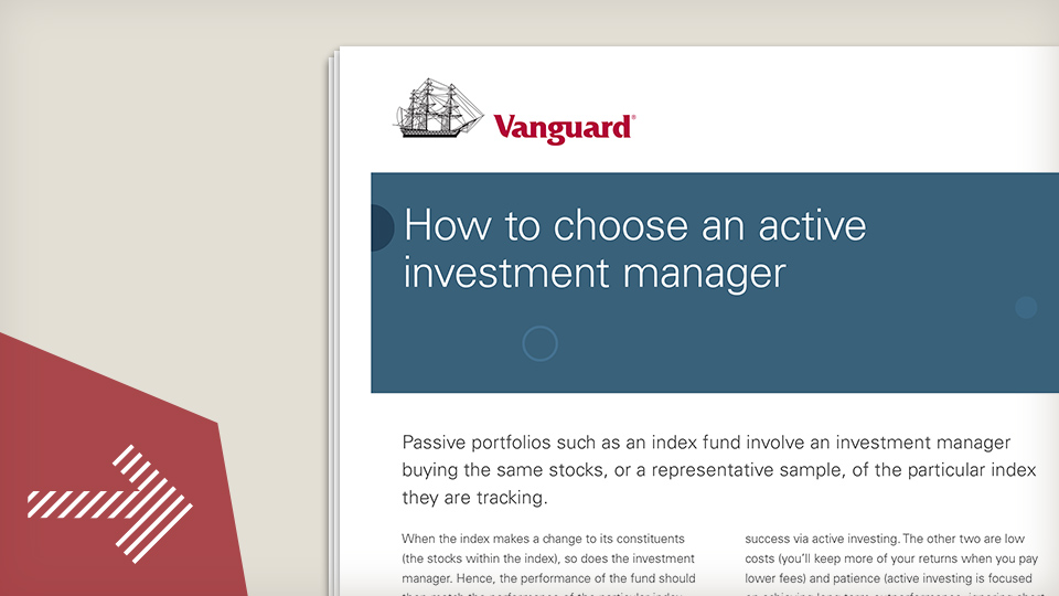 How to choose an active investment manager