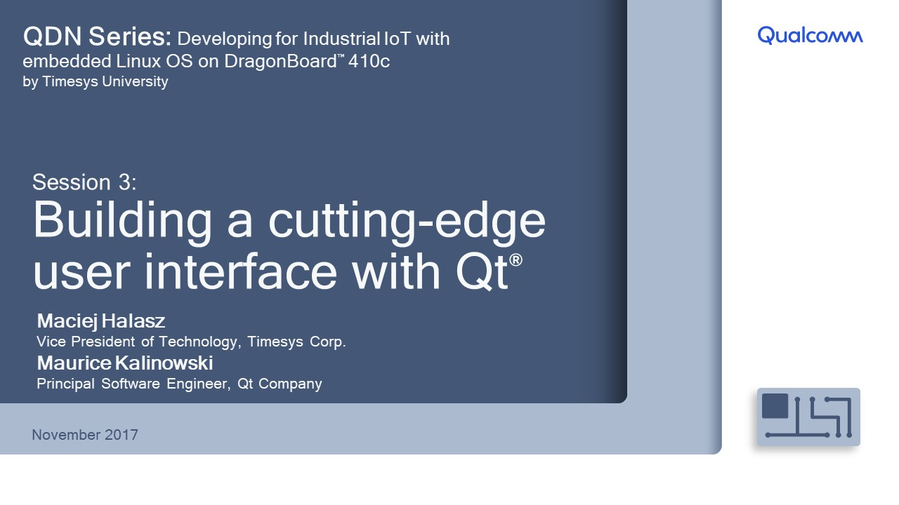 Presentation: Session 3 - Building cutting-edge user interface with Qt
