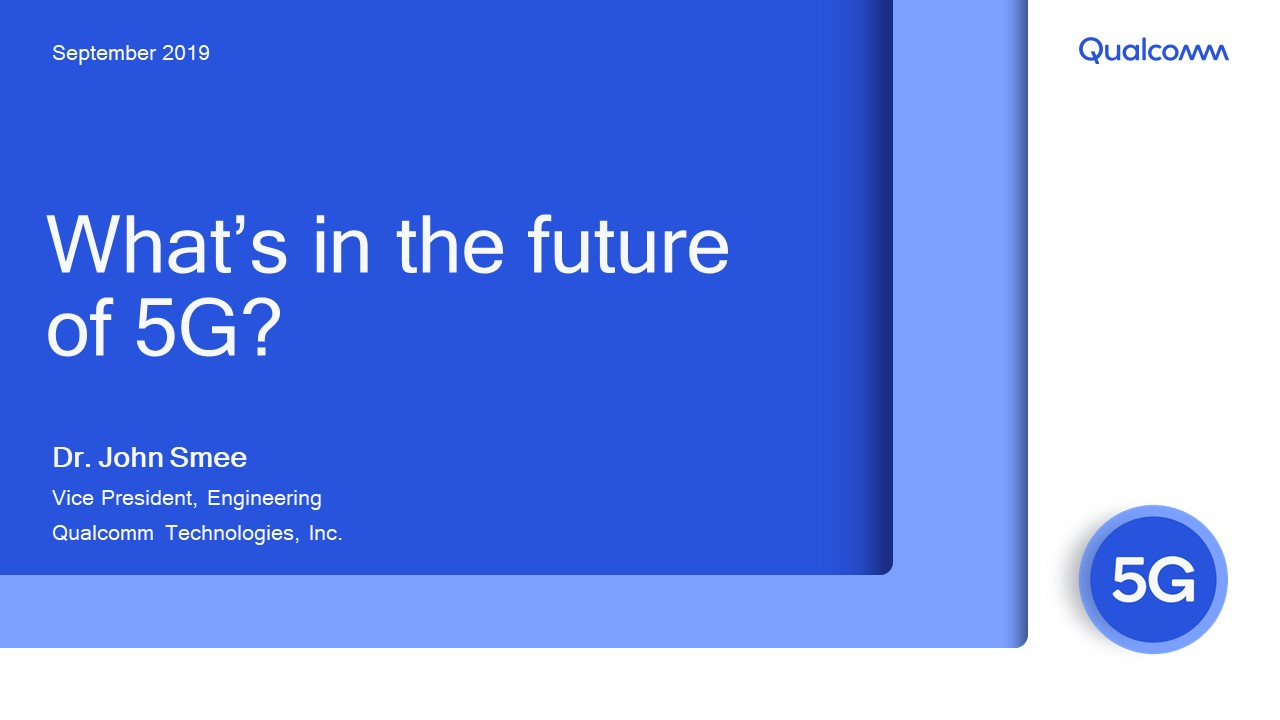 Presentation:  What's in the future of 5G