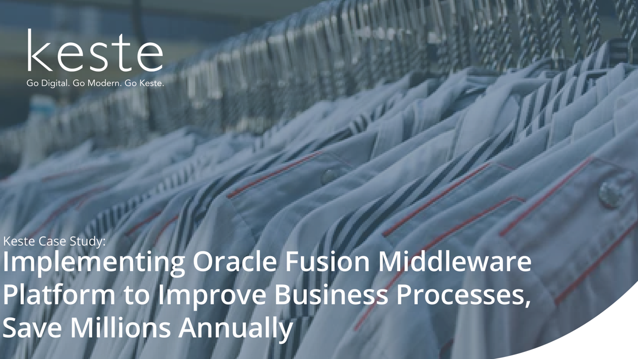 Case Study : Implementing Oracle Fusion Middleware
