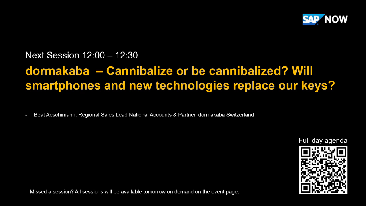 [ENGLISH] Dormakaba - Cannibalize or be cannibalized? Will smartphones and new technologies replace our keys?