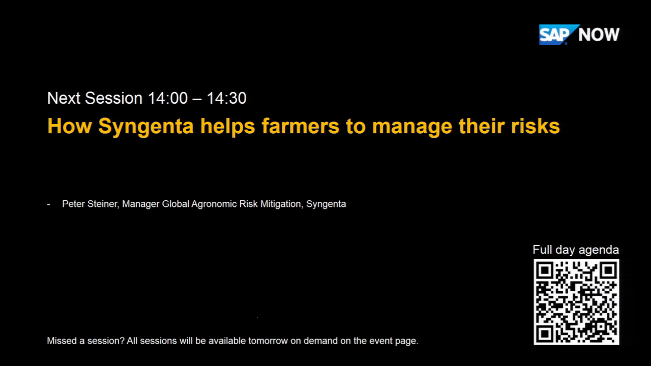 [GERMAN] Syngenta helps farmers to manage their risks