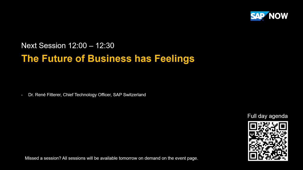 [FRENCH]  SAP Rene Fitterer- The Future of Business has Feelings