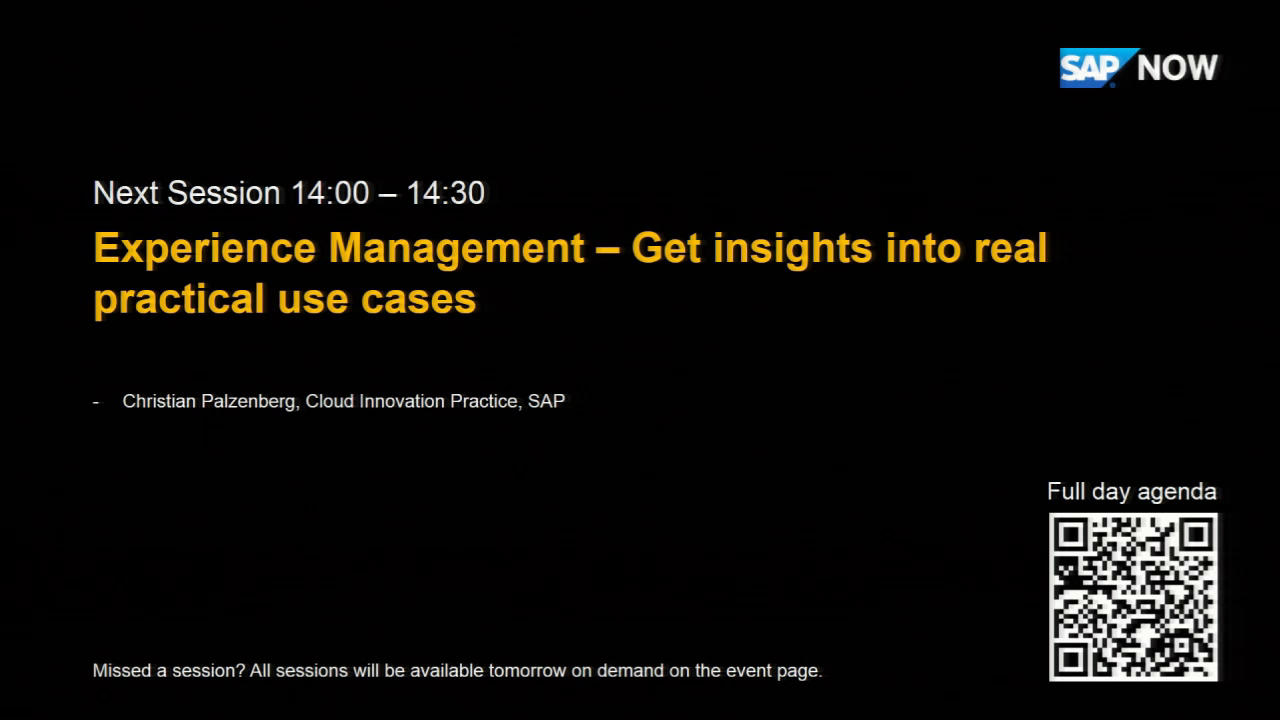 [GERMAN] SAP Austria - Get insights into real practical use cases