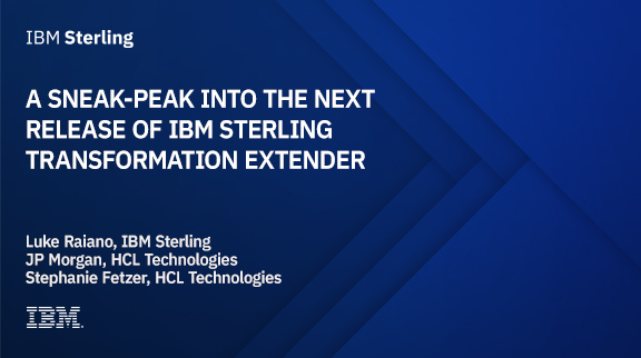 A Sneak-peak Into the Next Release of IBM Sterling Transformation Extender