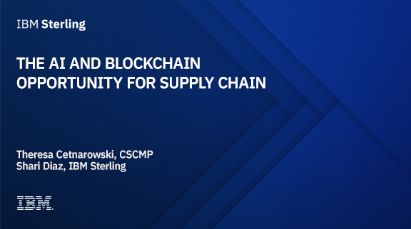 The AI and Blockchain opportunity for Supply Chain