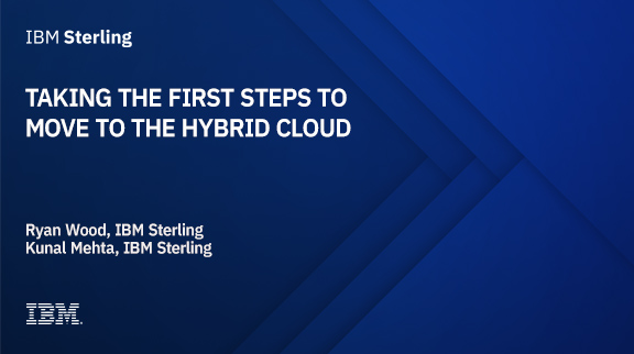 Taking the first steps to move to the hybrid cloud