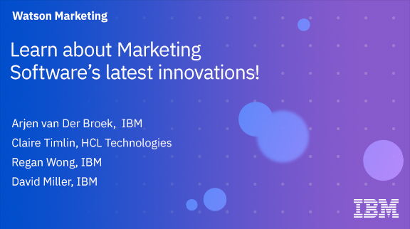 Client Community: Learn about Marketing Software's latest innovations!