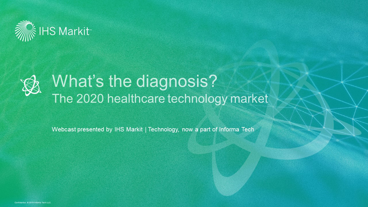 What's the diagnosis? The 2020 healthcare technology market