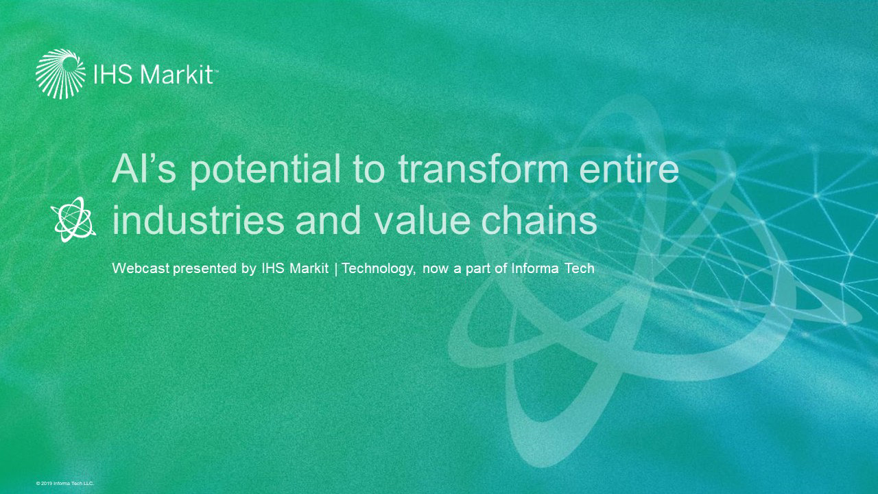 AI's potential to transform entire industries and value chains