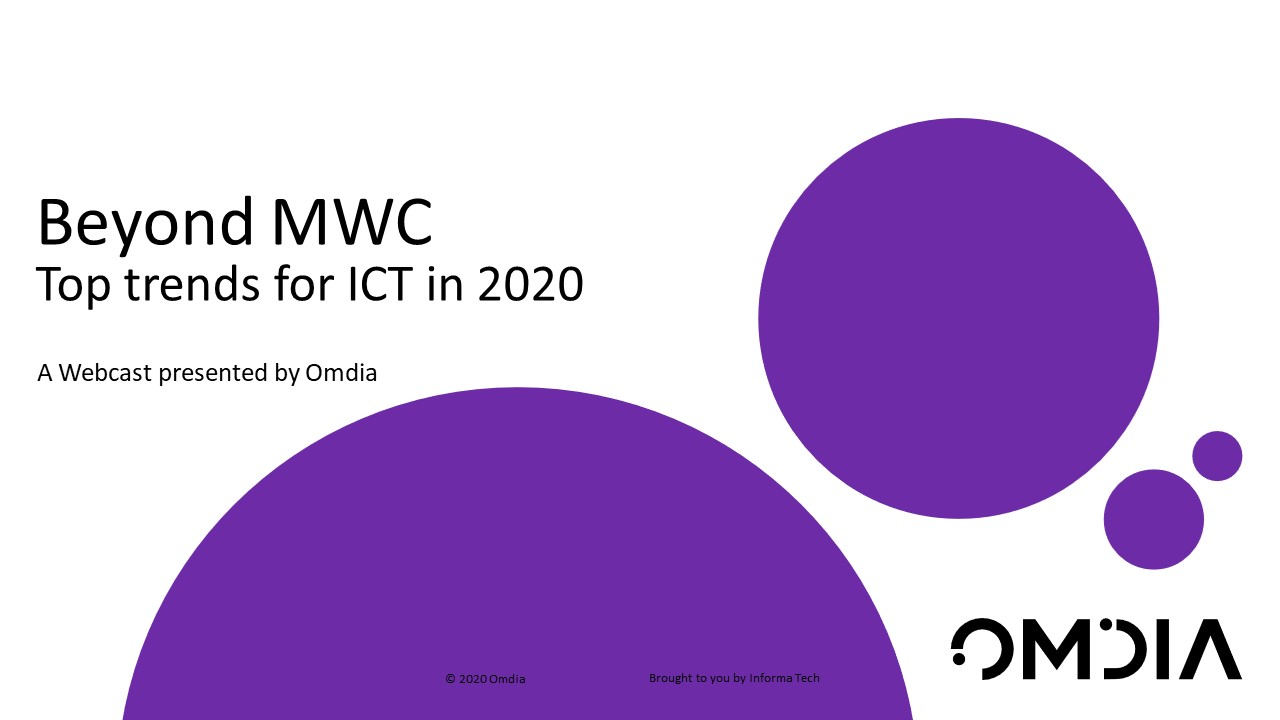 Beyond MWC: Top trends for ICT in 2020